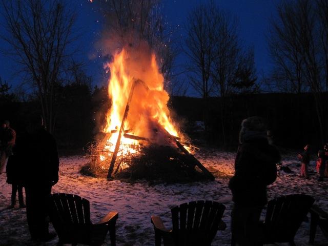 solstice bonfire
