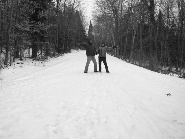 jessmayn and jim go hiking in the snow